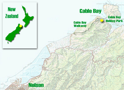 Cable Bay Holiday Park Location Nelson New Zealand