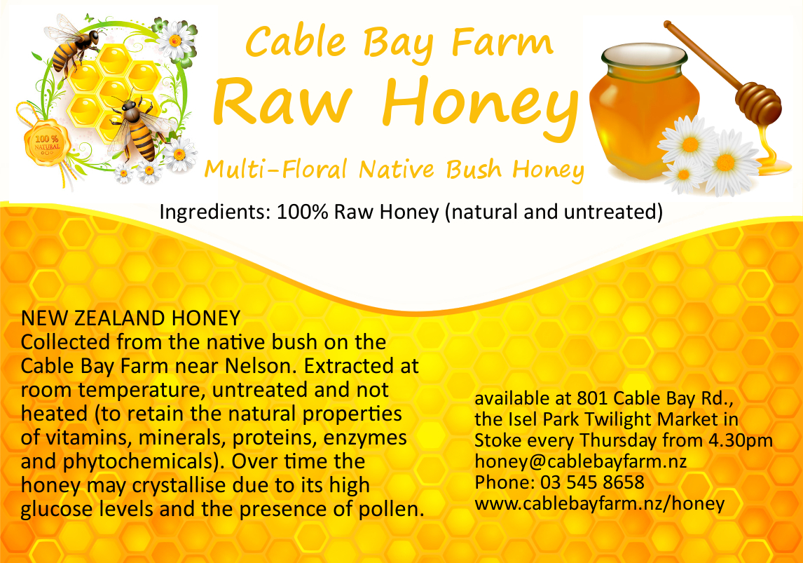 raw honey cable bay new zealand ws